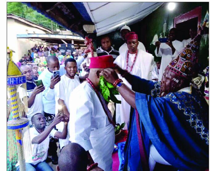 Ikare Akoko Stands Still As Owa Ale Installs Hon. Adebisi Olanrewaju Abraham As High Chief Alaja Of Okegbe, Ikare Akoko