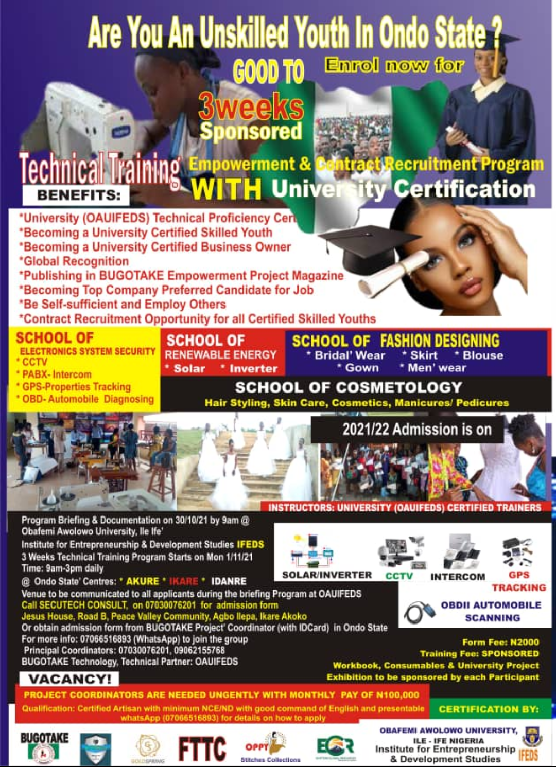 Are you an unskilled youth of Ondo state?